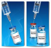 banner di vaccinazione verticale