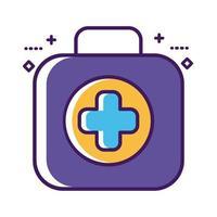 linea di kit di farmaci per farmaci e stile di riempimento