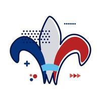 Emblema vittoriano stile piatto icona illustrazione vettoriale design