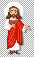 personaggio dei cartoni animati di Gesù isolato vettore