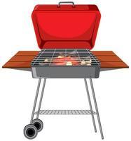 griglia del barbecue su priorità bassa bianca vettore