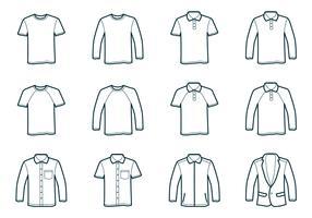 Modello di t-shirt di contorno vettore