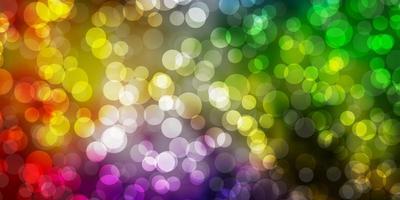 texture leggera vettoriale multicolore con cerchi.