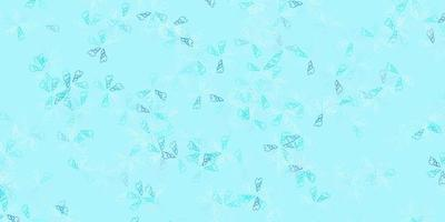 sfondo astratto vettoriale azzurro con foglie.