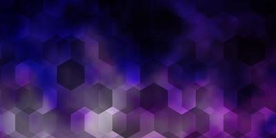 modello vettoriale viola chiaro in stile esagonale.
