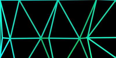 layout di triangolo poli vettoriale verde chiaro.
