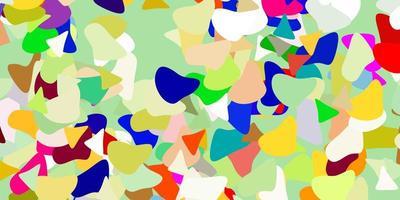 sfondo vettoriale multicolore chiaro con forme casuali.