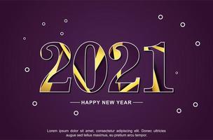 nuovo anno 2021 disegno astratto sfondo vettore