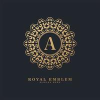 lettera di lusso ornamentale un logo vettore