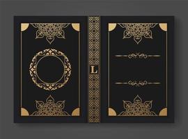 modello di progettazione copertina del libro ornamentale vettore