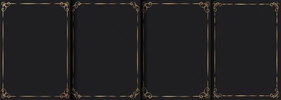 collezione di cornici ornamentali vintage di lusso vettore