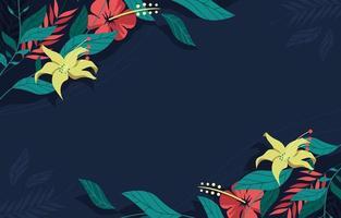 sfondo classico blu navy e fiore rosso fiore vettore