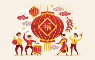 festa di capodanno cinese vettore