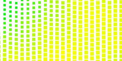 modello vettoriale verde chiaro, giallo in rettangoli.