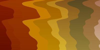 sfondo vettoriale arancione chiaro con linee piegate.