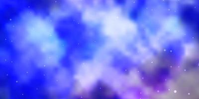 modello vettoriale rosa chiaro, blu con stelle astratte.