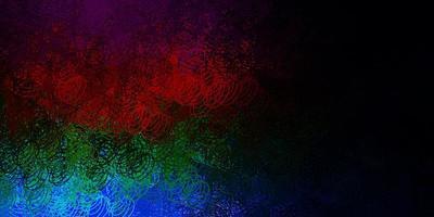 layout vettoriale multicolore scuro con forme circolari.