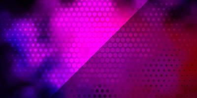 trama vettoriale rosa scuro, blu con cerchi.