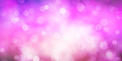 layout vettoriale viola scuro, rosa con forme circolari.