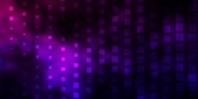 sfondo vettoriale viola scuro, rosa con rettangoli.