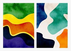set di sfondi acquerello astratti dipinti a mano