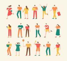raccolta di personaggi di persone semplici.