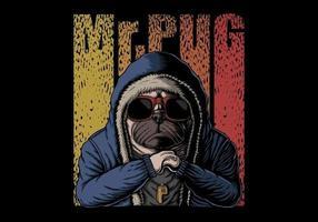 signor pug dog illustrazione vettoriale