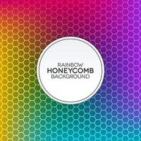 sfondo sfumato arcobaleno con trama a nido d'ape vettore