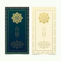 set di modelli vettoriali di cartolina d'auguri ornamento vintage