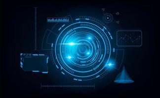 futuristico sfondo astratto. sfondo del concetto di tema futuro. vettore