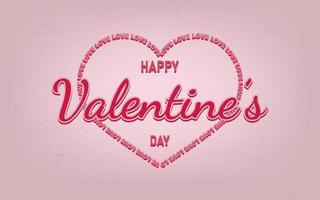 sfondo San Valentino con il concetto di tipografia