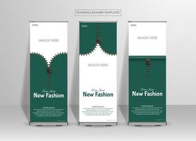 modello di banner in piedi per il business della moda vettore