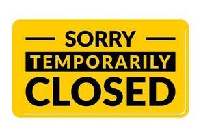 scusa temporaneamente chiuso a causa di restrizioni covid