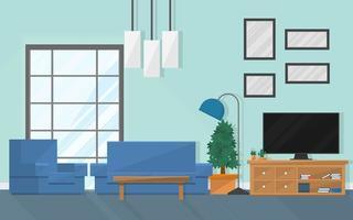 soggiorno interno con mobili e finestra