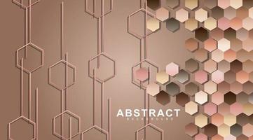 pareti geometriche esagonali. poligono di superficie con ombre esagonali, nido d'ape. vettore
