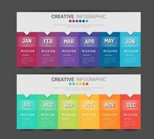 modello di presentazione aziendale infografica per 12 mesi