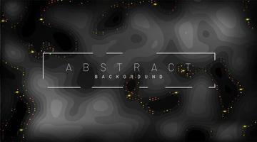 sfondo di carta nera tagliata. decorazioni di pezzi di carta strutturati astratti realistici con strati ondulati e lucentezza dorata. Illustrazione vettoriale 3D. modello di layout di copertina.