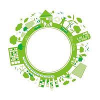 pensa al design di concetti verdi vettore