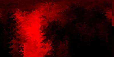 sfondo di mosaico triangolo vettoriale arancione scuro.