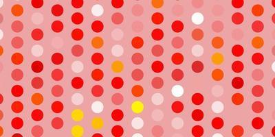 layout vettoriale arancione chiaro con forme circolari.