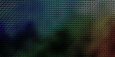 modello vettoriale blu scuro, verde con linee.