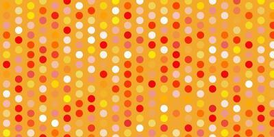 modello vettoriale arancione chiaro con cerchi.