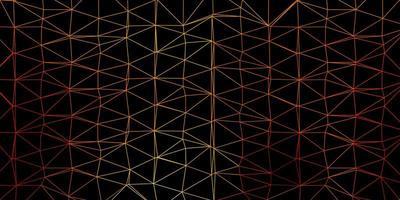 layout di triangolo poli vettoriale arancione chiaro.