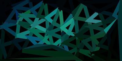 fondo poligonale di vettore blu scuro, verde.