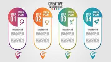 modello di vettore di progettazione timeline moderna infografica per le imprese