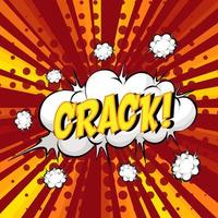 bolla di discorso comico formulazione crack su burst vettore