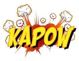 fumetto comico con testo kapow vettore