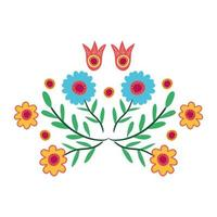 icona di decorazione del giardino di bellissimi fiori