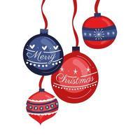 natale appeso palle decorative icone
