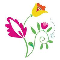 bellissimi fiori giardino icone decorative
